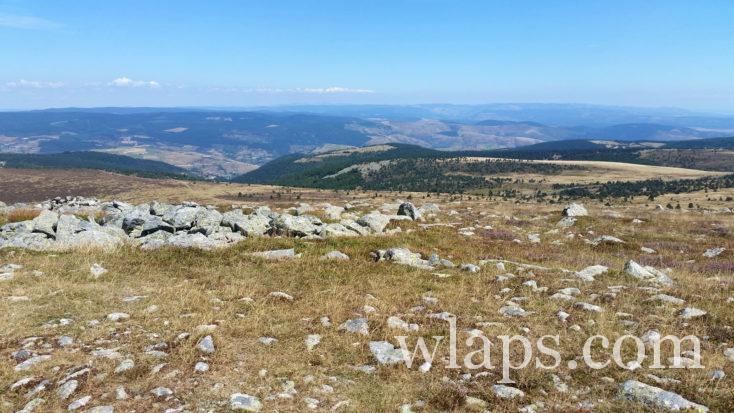 vue depuis le sommet du Mont Lozère