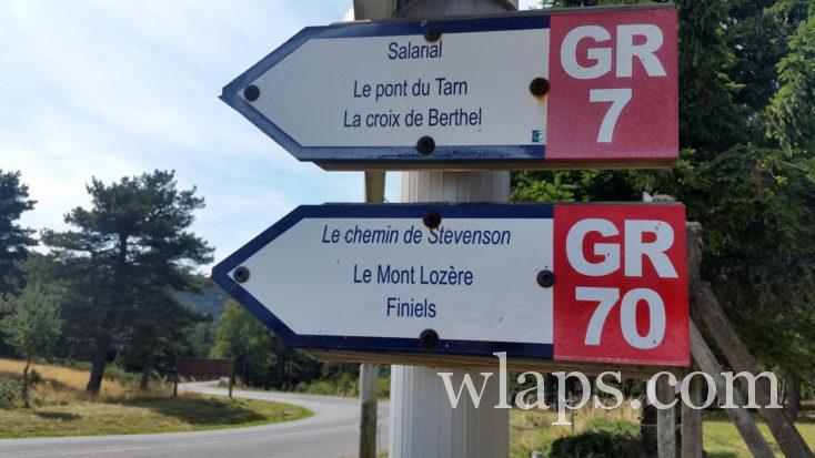 panneau du sommet du Mont Lozère