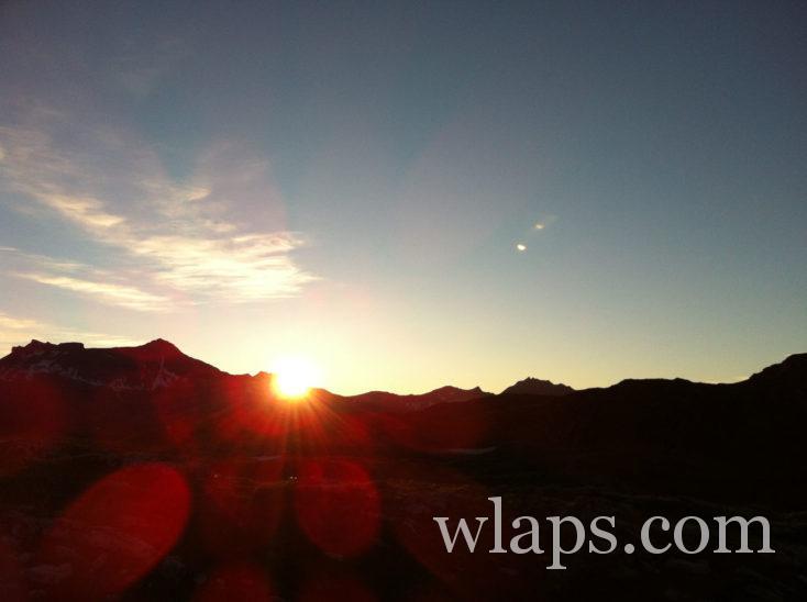Lever de soleil sur le Plateau d'Emparis
