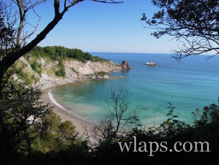 plage secrète sur le domaine d'Abbadia