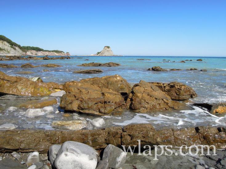 plage sur le domaine d'Abbadia