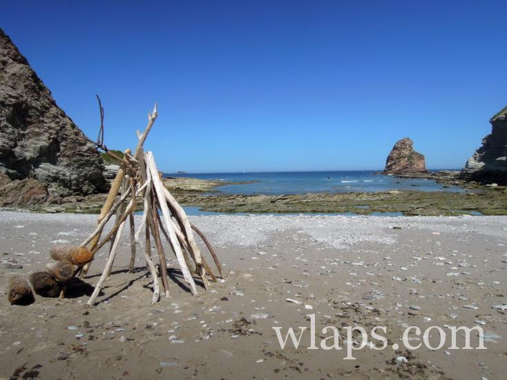 autre plage secrète sur le domaine d'Abbadia