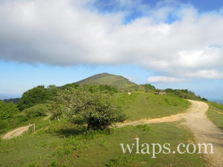 le chemin de randonnée vu depuis le sommet