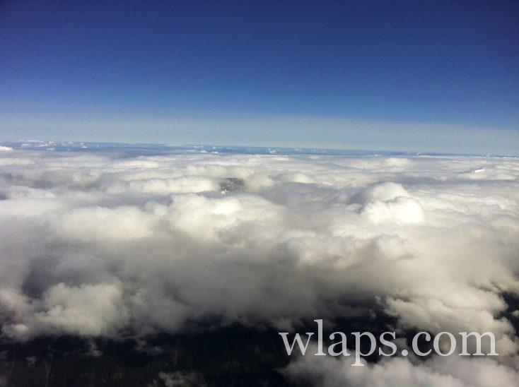 la mer de nuage depuis l'Aiguille du Midi