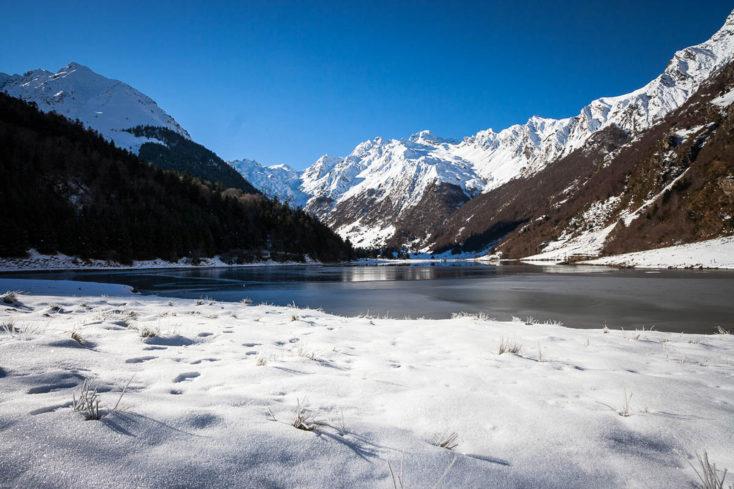 hiver au lac d'estaing
