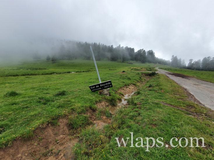 la piste de la balade au Col de Beyrède