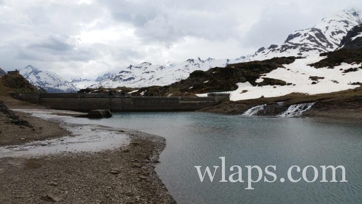Lac d'Ossoue en hiver
