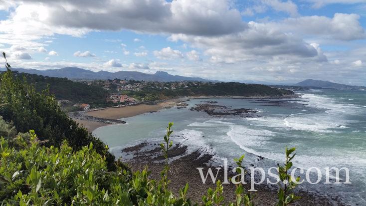 l'océan le long du Sentier du Littoral basque