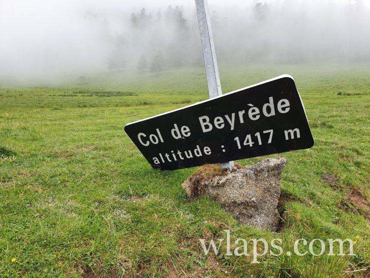 Col de Beyrède dans nuage