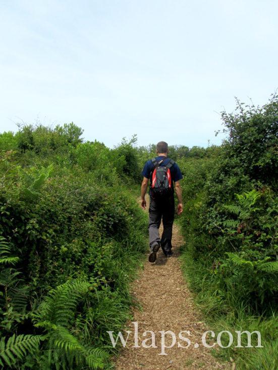 chemin de randonnée au Domaine d'Abbadia