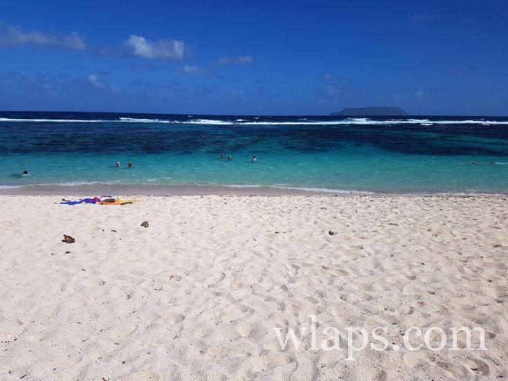 soleil à la plage des Salines en décembre