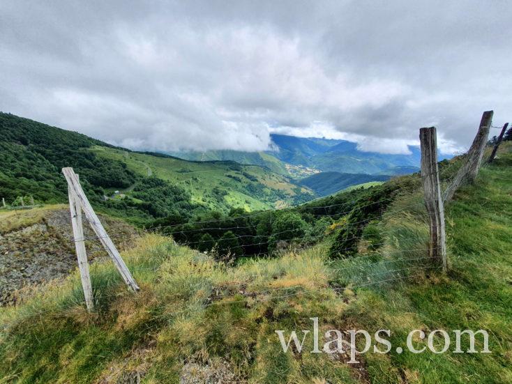 Vue depuis le Col d'Aspin sur la vallée