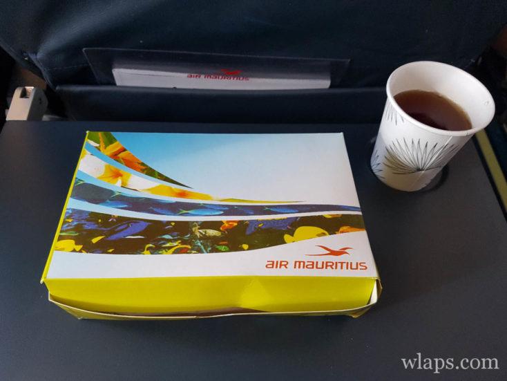 gouter à bord du vol Air Mauritius pour venir à l'ile Rodrigues
