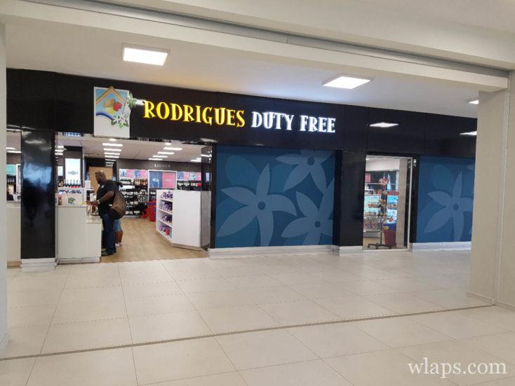 zone duty free de l'aeroport de rodrigues