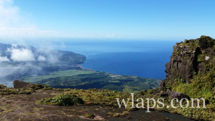 vue depuis le volcan sur le nord de la Martinique