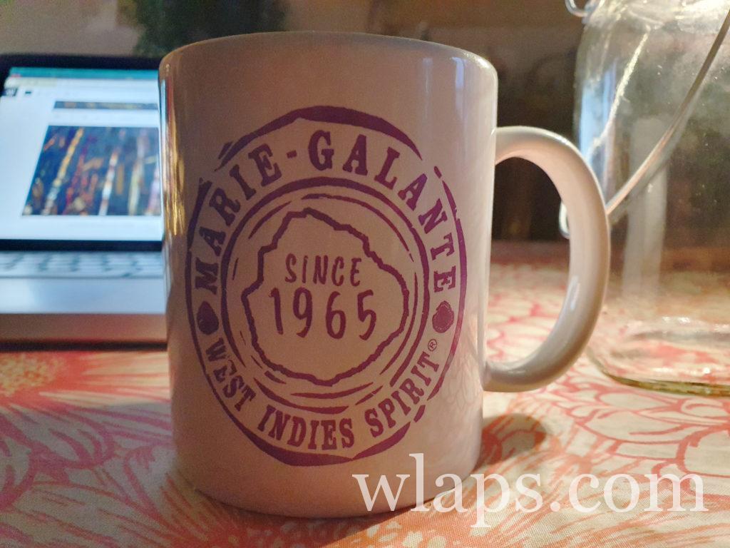 Mug Marie Galante achetés par une journée où il faisait de la pluie
